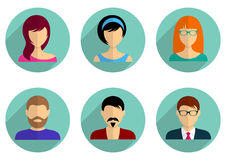 Men and women avatar icons Stock Photo