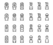 Men and women avatars vector icon set Royalty Free Stock Images