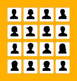Men and women avatars Royalty Free Stock Images