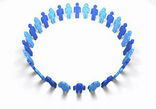 Men and Women Blue - Circle Stock Images
