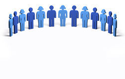 Men and Women Blue - Circle, isolated Stock Images