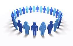 Men Women Blue - Circle, isolated Royalty Free Stock Image