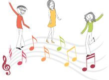 Music and dance illustration royalty free stock images