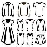 Men and women clothes Stock Image