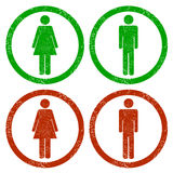 Men and women grunge icons Royalty Free Stock Image