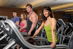 Men and Women at the Gym stock photography