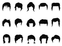 Men and women hair styling collection royalty free illustration