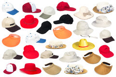 Men and Women Hats Royalty Free Stock Photography