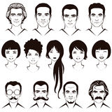 Men and women head character Stock Image