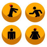 Men and women icons Royalty Free Stock Image