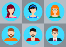 Men and women icons Stock Photography
