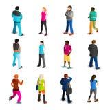 Men And Women Icons Set Stock Photo