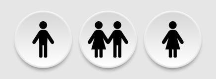 Men and women icons Stock Photo