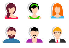 Men and women labels Royalty Free Stock Images