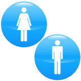 Men and women logo Stock Photos
