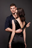 Men and women love. Hot love story. Royalty Free Stock Photos
