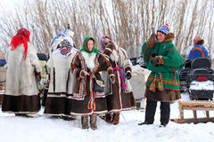 Men and women Nenets Stock Photography