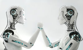 Men and women robot Royalty Free Stock Photo