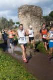 Men and women running Marathon of the Epiphany, Rome, Italy Royalty Free Stock Image