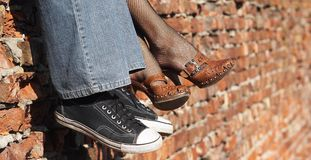 Men and women's shoes royalty free stock photography