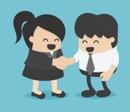 Men and women shaking hands. entrepreneurs succeeding. Eps.10 Royalty Free Stock Photo