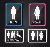 Men and women sign Royalty Free Stock Photos