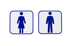 Men women sign Stock Image
