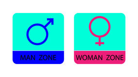 Men and women sign icons - vector illustration.  Royalty Free Stock Images