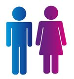 Men and women signs Royalty Free Stock Images
