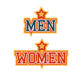 Men Women. Signs  Athletic Style Royalty Free Stock Photo