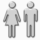 Men and women symbol Stock Photography
