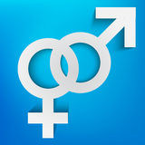 Men and women symbol Stock Images