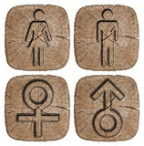 Men women symbol isolated Royalty Free Stock Photography