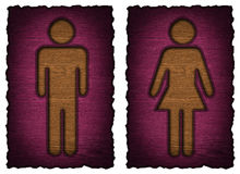 Men women symbol isolated Royalty Free Stock Photos