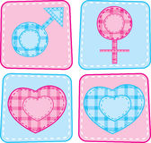 Men and women symbol set Stock Images