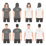 Men and Women t-shirt design template Stock Photos
