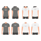 Men and Women t-shirt design template Royalty Free Stock Images