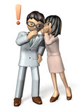Men and women is talking about secret story. Stock Photo