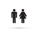 Men and women toilet sign. A men and women toilet sign Royalty Free Stock Photography