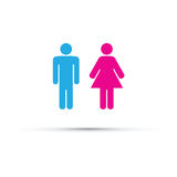 Men and women toilet sign. A men and women toilet sign Royalty Free Stock Photos