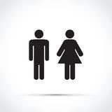 Men and women toilet sign. A men and women toilet sign Stock Image