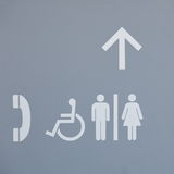 Men and women toilet sign Royalty Free Stock Image