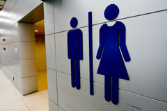 Men and women toilet signs. Royalty Free Stock Photos