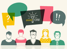 Men and women user icon Stock Photo