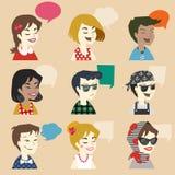 Men and women user icon Stock Photos