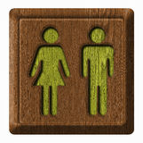 Men and Women wc tag Royalty Free Stock Photos