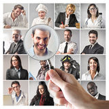 Men and women at work royalty free stock photo