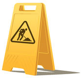 Men at work caution sign Royalty Free Stock Photos
