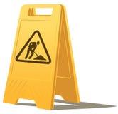 Men at work caution sign vector illustration