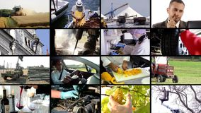 Men at work composition stock footage